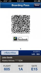 AlaskaAir IOS Boarding Pass