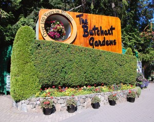 Entrance to Butchart Gardens