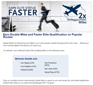 AlaskaAir Double EQM Promotion