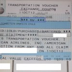 DV Travel Voucher from American Airlines