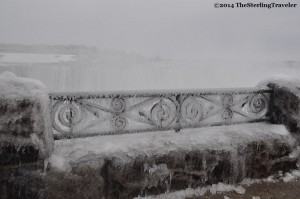 Frozen rail at Niagara Falls