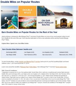 AlaskaAir Double RDMs Promo