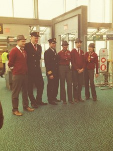 Air Canada Rouge Uniforms. Photo Courtesy of YVR Airport