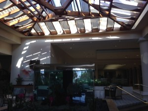 Crown Plaza Redondo Beach Lobby & Fish Tank