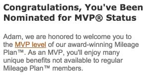 MVP Status Confirmation
