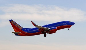 Southwest 737-700 Taking off from John Wayne Airport (SNA)
