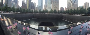 Panorama of 9/11 Memorial Pool