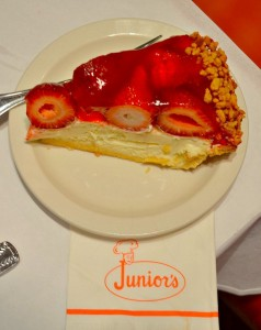 Strawberry Cheesecake at Junior's