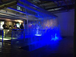 Waterfall in the Guinness Storehouse