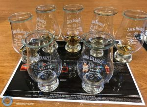 Tasting Jack Daniel's whiskey