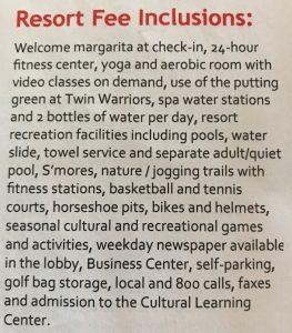Resort Fee inclusions at Hyatt Regency Tamaya Resort