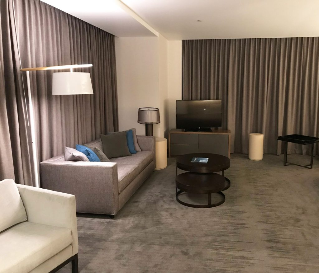 Seating Area of Deluxe Suite at InterContinental DTLA