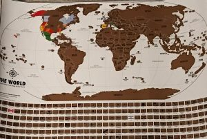 Entire Scratch Off Travel Tracker Map