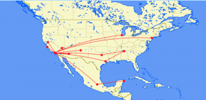 Map of Flights Taken in 2017