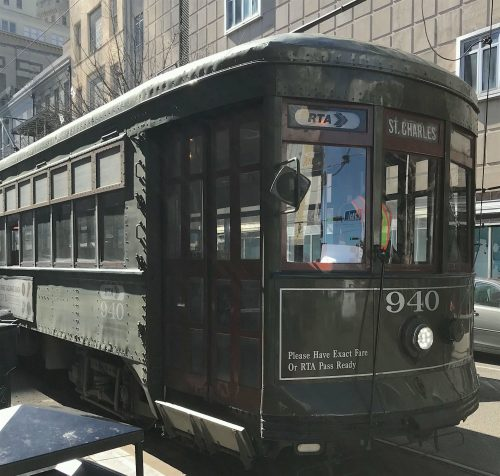 St Charles line streetcar in New Orleans