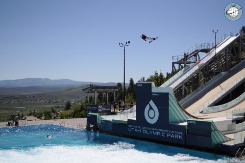 Olympic Park Freestyle Skiing in Park City in the summer